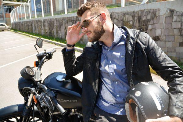 Camisa Argali Falklands Destonado Cinza - Harley Davidson Edition