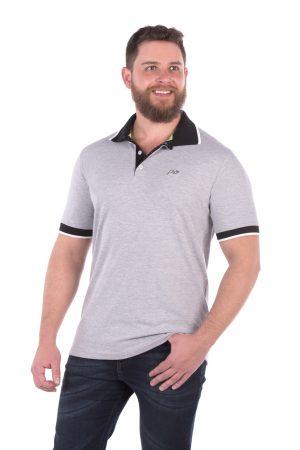 Camisa Polo Casual Fit Argali Altai Cinza Mescla