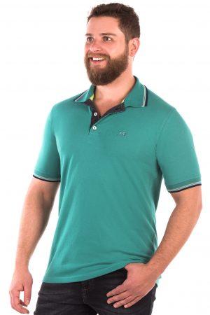 Camisa Polo Casual Fit Argali Altai Verde Água