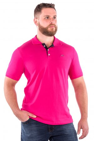 Polo Casual Fit Argali Altai Rosa Intenso