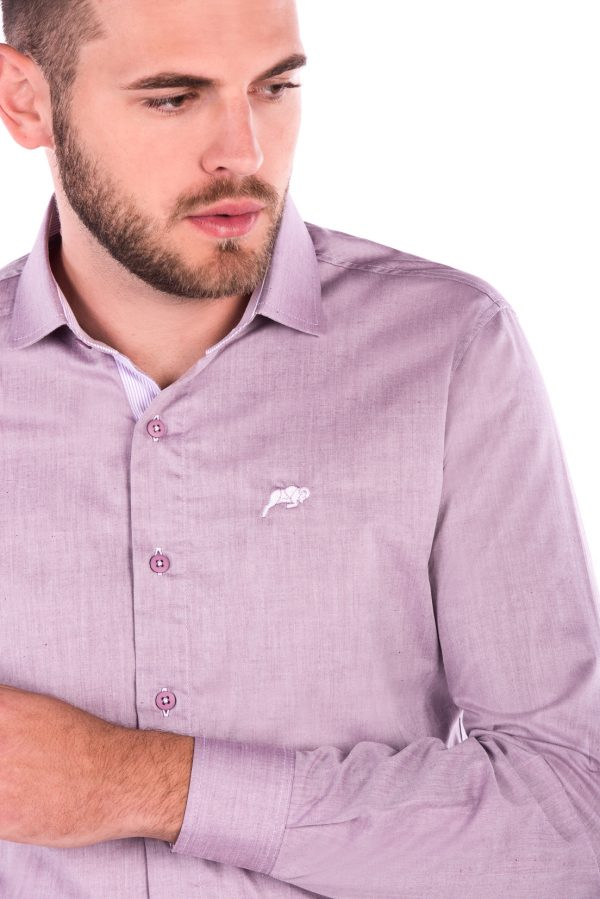 Camisa Slim Fit Falklands ML - Destonado Bordô