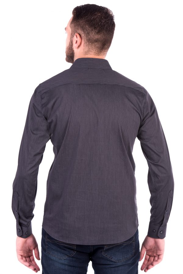 Camisa Slim Fit Argali Falklands ML - Listrado Vertical Clássico