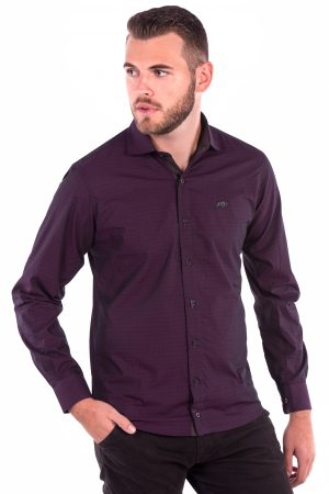 Camisa Slim Fit Falklands ML - Navalhado Vinho