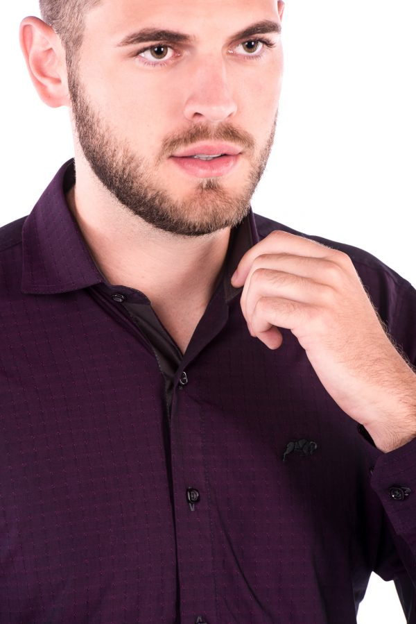Camisa Slim Fit Falklands ML - Navalhado Vinho