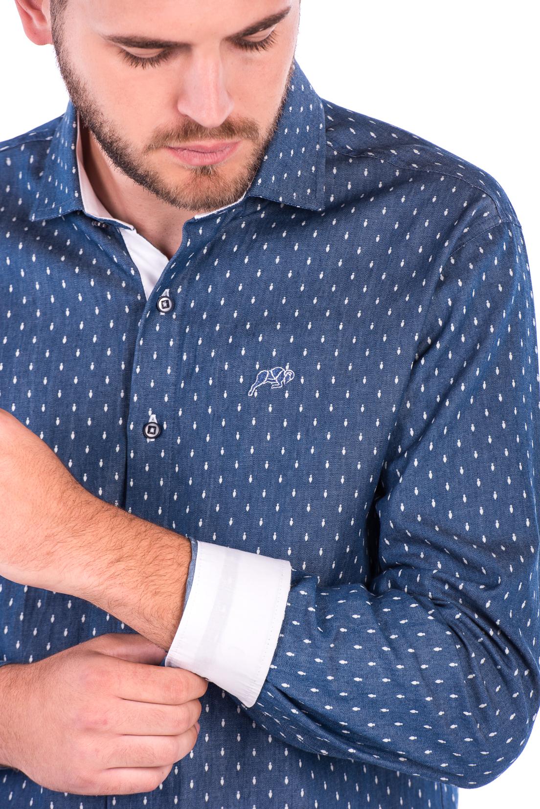 Camisa Slim Fit Falklands ML - Efeito Jeans Gravata 3096c41c9fc