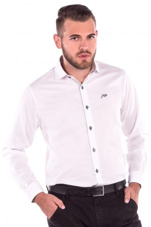 Camisa Slim Fit Argali Falklands ML - Branco Clean