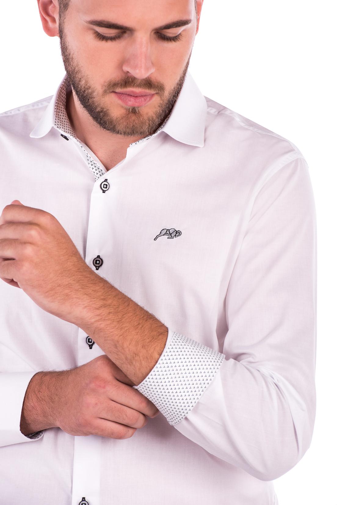 Camisa Slim Fit Argali Falklands ML - Branco Clean b678ef19426