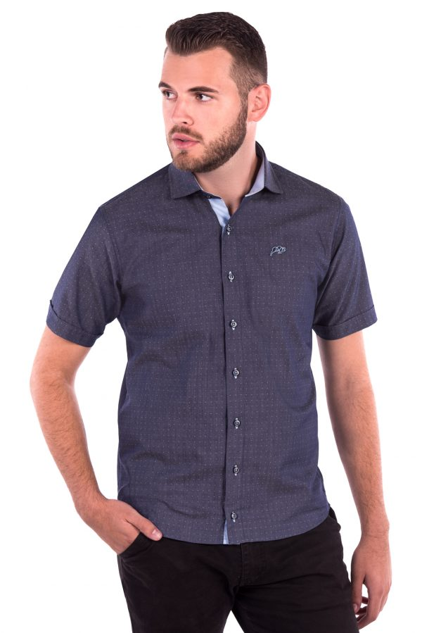 Camisa Slim Fit Falklands MC - Navalhada Azul