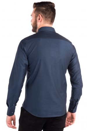 Camisa Slim Fit Argali Kauai ML - Azul Real