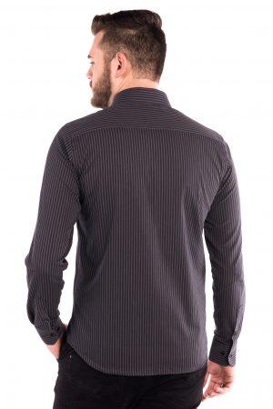 Camisa Slim Fit Argali Kauai ML - Listrado Cinza Way