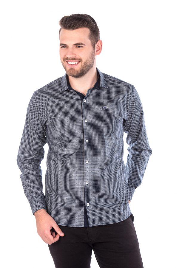 Camisa Slim Fit Argali Falklands ML - Xadrez Lite