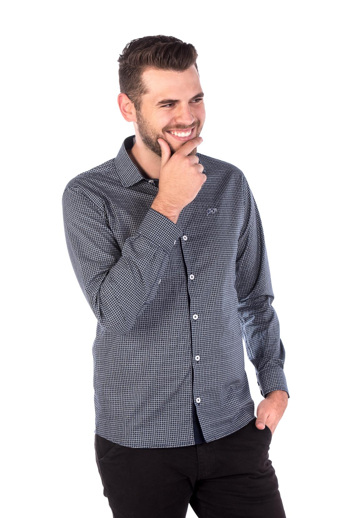 Camisa Slim Fit Argali Falklands ML - Xadrez Lite d5b313dd924