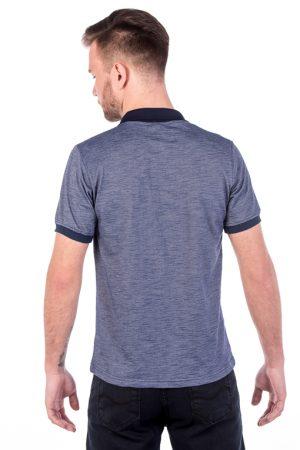 Polo Azul Wave (costas)