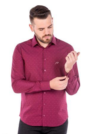 Camisa Slim Argali Kauai Rosa Estilo (frente)