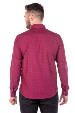 Camisa Slim Argali Kauai Rosa Estilo (costas)