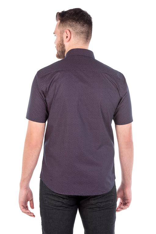 Camisa Argali Kauai Manga Curta Poá Rosa (costas)