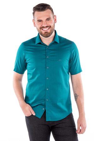 Camisa Argali Kauai Manga Curta Verde (frente)