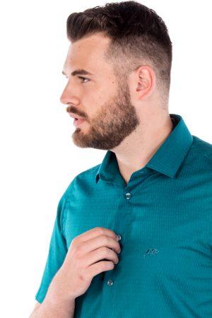 Camisa Argali Kauai Manga Curta Verde (detalhe)