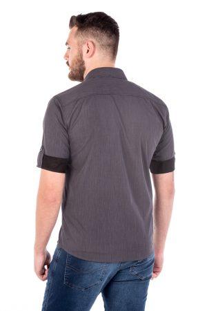 Camisa Slim 3/4 Manga Curta Argali Falklands Giz Cinza (costas)