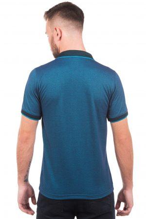 Polo Argali Casual Fit Azul Oceano (costas)