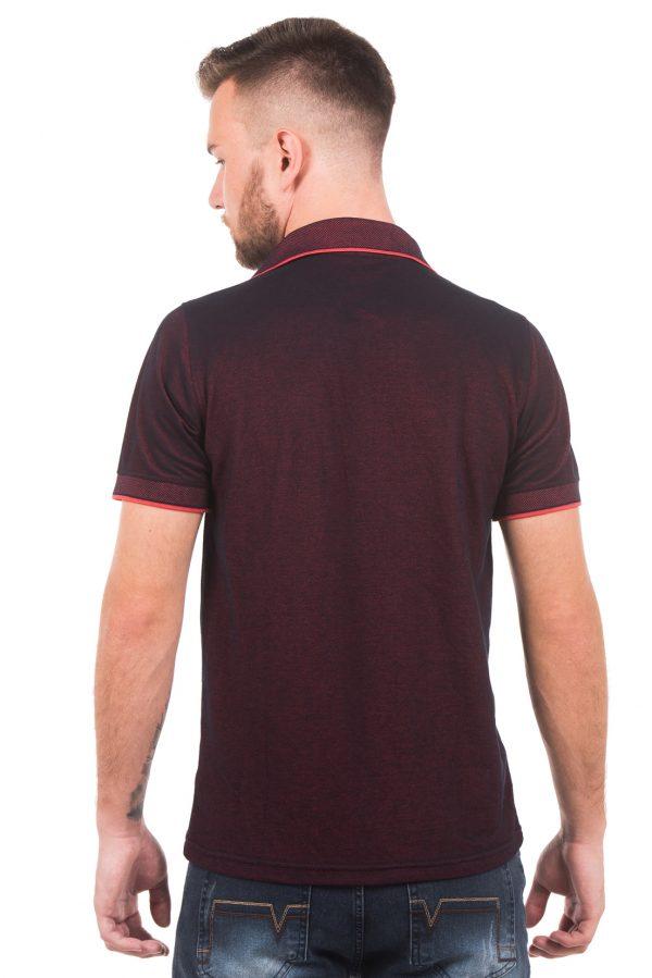 Polo Argali Casual Fit Vermelho Estilo (costas)
