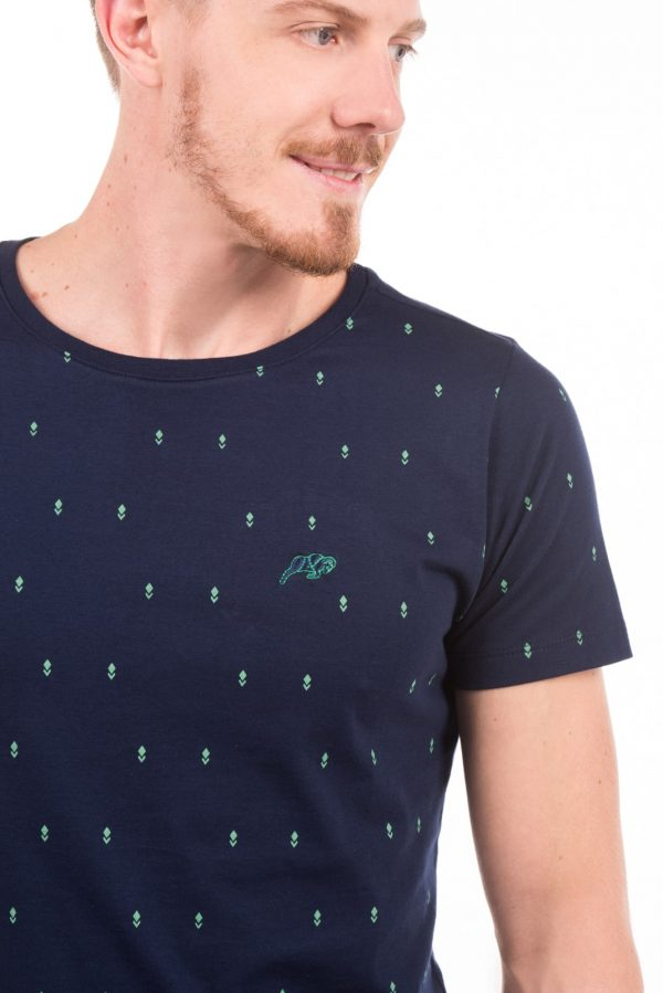 Camiseta Argali Volcano Marinho Lança Verde