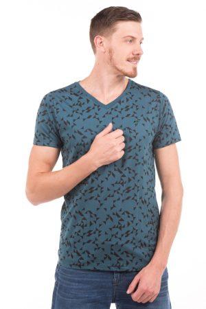 Camiseta Argali Volcano Azul Petróleo Geo