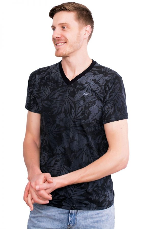 Camiseta Argali Altai Floral Preto Sober (lado)