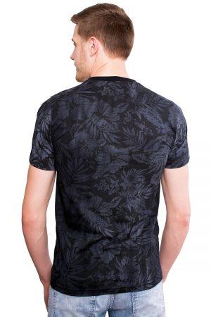 Camiseta Argali Altai Floral Preto Sober (costas)