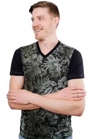 Camiseta Argali Altai Floral Nature (lado)