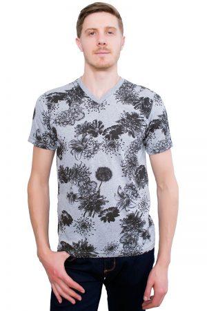 Camiseta Argali Altai Floral Cinza (frente)