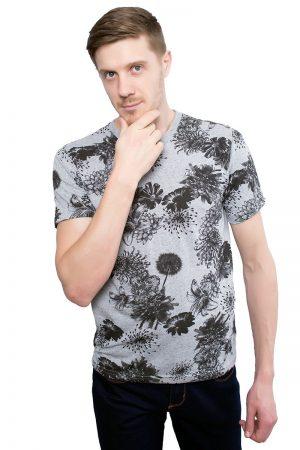 Camiseta Argali Altai Floral Cinza (lado)