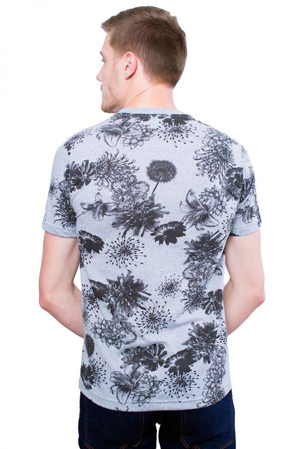 Camiseta Argali Altai Floral Cinza (costas)
