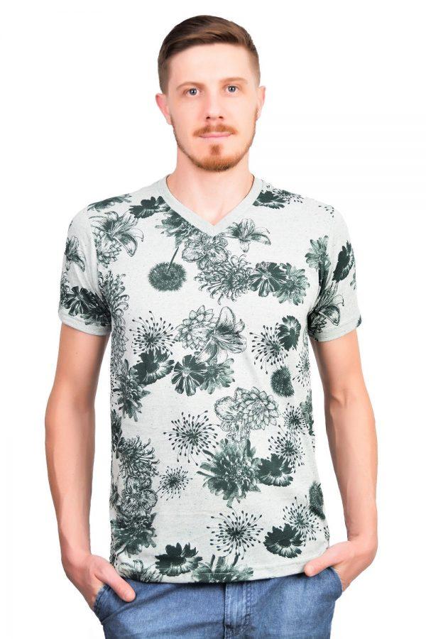 Camiseta Argali Altai Floral Verde (frente)