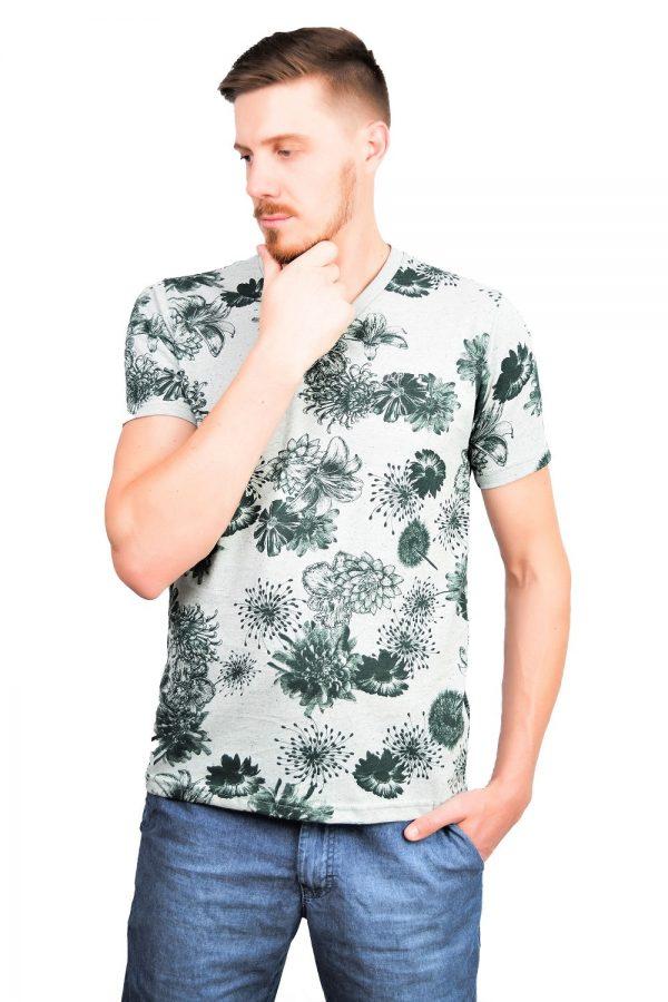 Camiseta Argali Altai Floral Verde (lado)