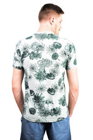 Camiseta Argali Altai Floral Verde (costas)