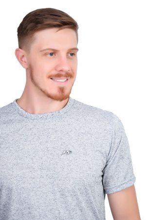 Camiseta Argali Altai Cinza Mescla (detalhe)
