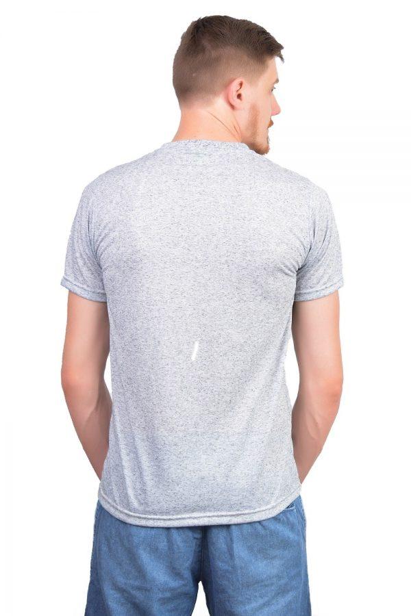 Camiseta Argali Altai Cinza Mescla (costas)