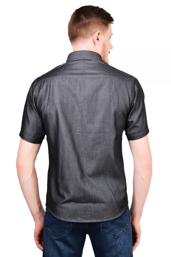 Camisa Manga Curta Argali Falklands Poá Cinza (costas)