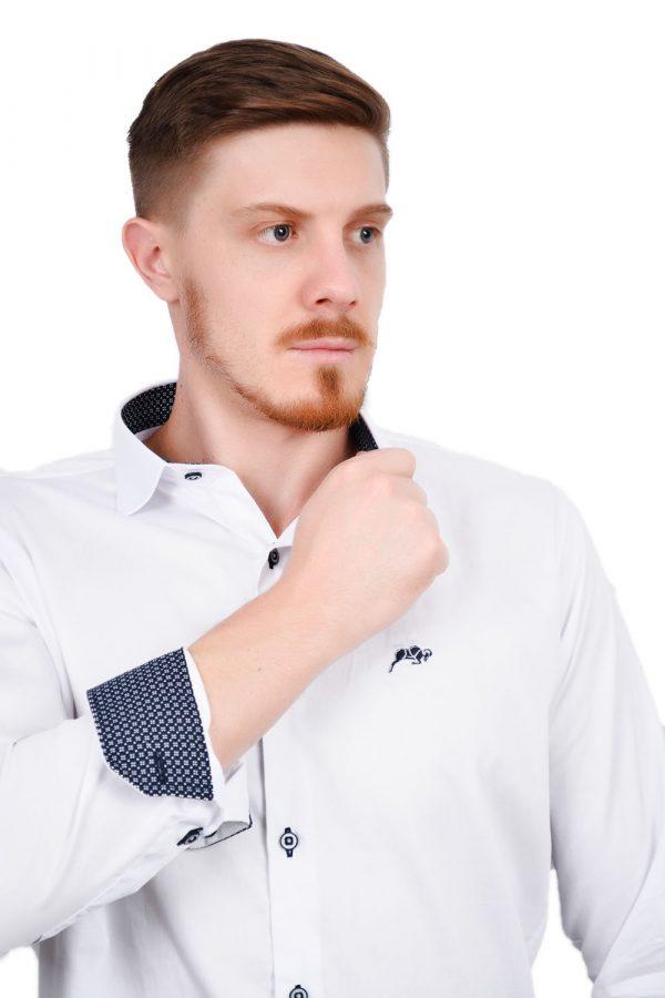 Camisa Argali Falklands Branco Esporte (detalhe)