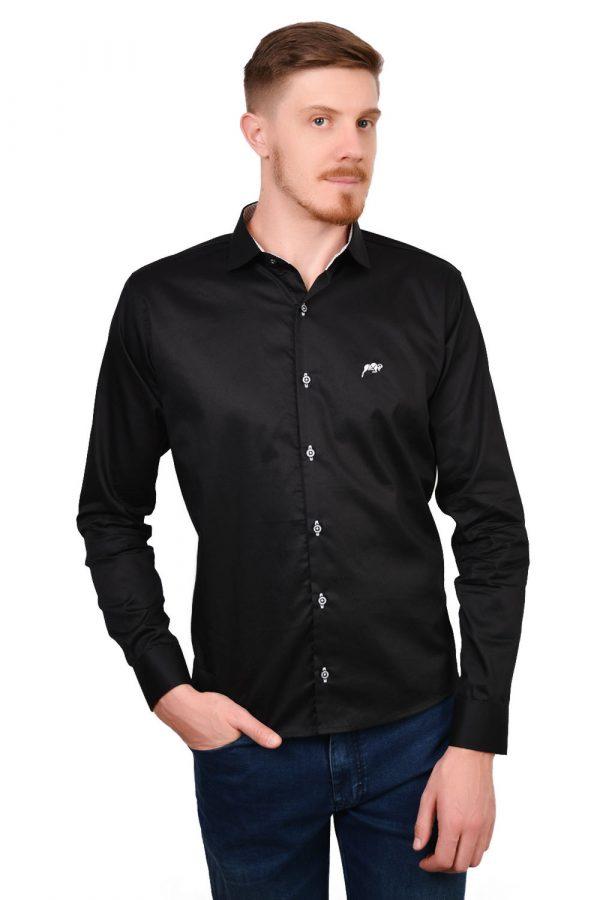 Camisa Argali Falklands True Black (frente)