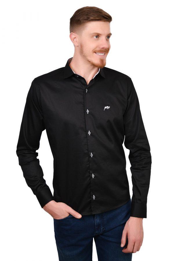 Camisa Argali Falklands True Black (lado)