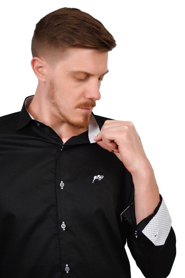 Camisa Argali Falklands True Black (detalhe)