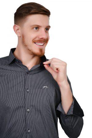 Camisa Argali Falklands Fiz Cinza Confort (detalhe)
