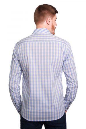 Camisa Argali Falklands Xadrez Azul (costas)