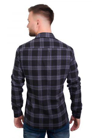 Camisa Argali Falklands Flanela - Xadrez Dark (costas)