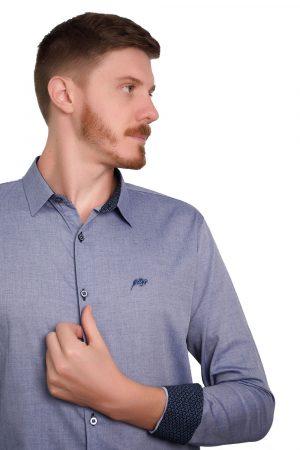 Camisa Argali Falklands Blue Jeans (detalhe)