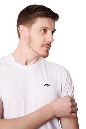 Camiseta Argali Prime Basic Branca (detalhe)