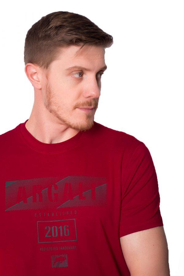Camiseta Argali Prime Print Vermelho (detalhe)