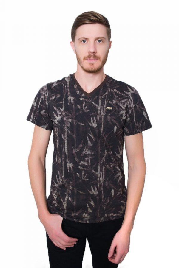Camiseta Argali Prime Floral Autumn Marrom (frente)